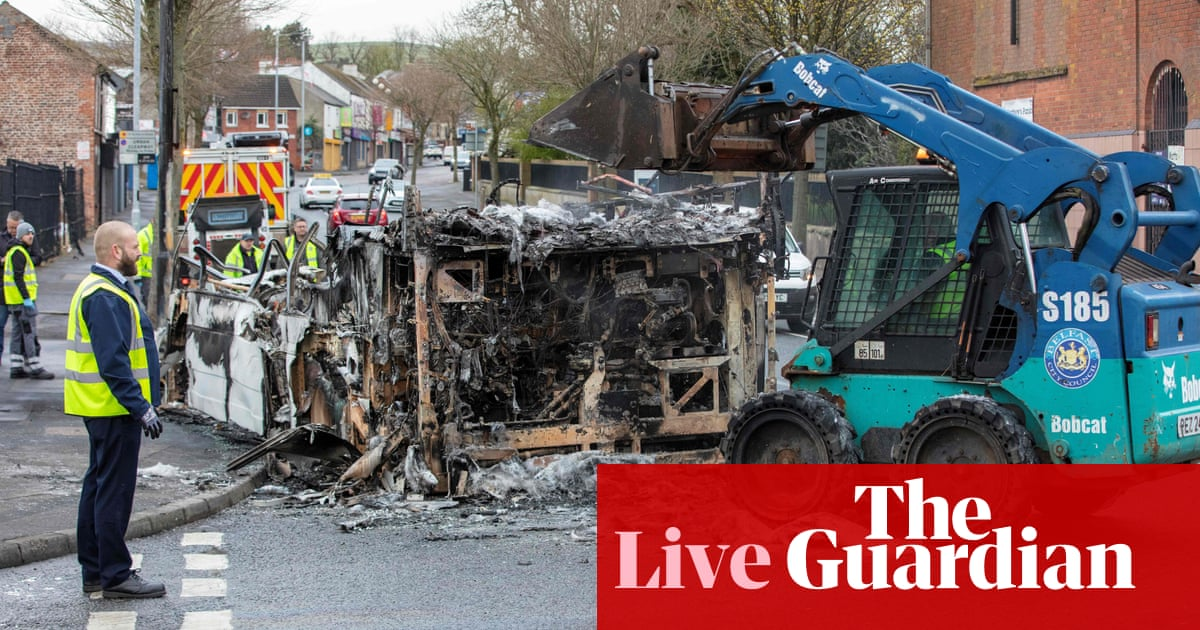 Northern Ireland assembly holds emergency debate after six nights of violence – live