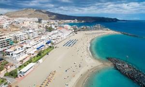 Los Cristianos beach, Canary Island