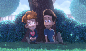 A still from In a Heartbeat, the animated short film by Esteban Bravo and Beth David