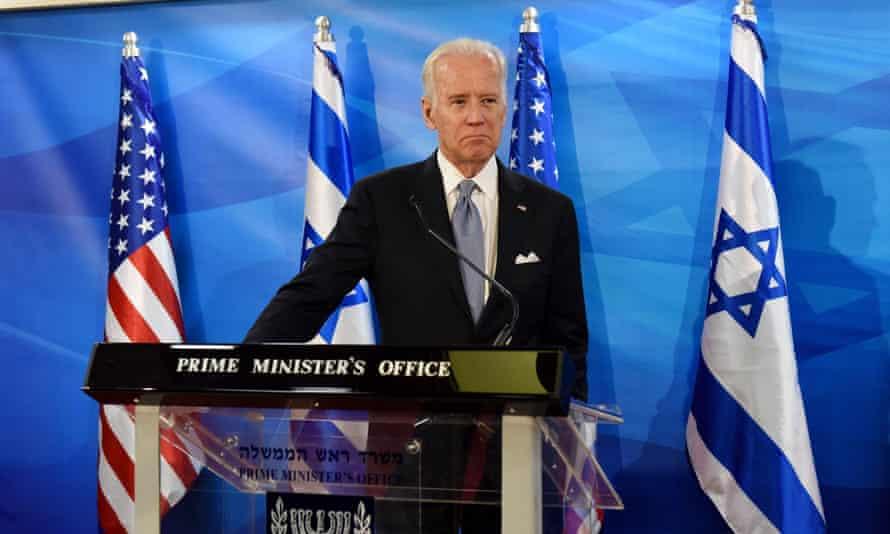 US vice-president Joe Biden during his visit to Jerusalem in March