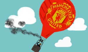 Illustration of black smoke coming off Manchester United hotair balloon