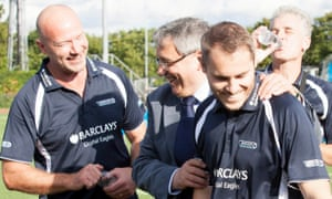 Gregg Bakowski is introduced to his team-mates, Alan Shearer.