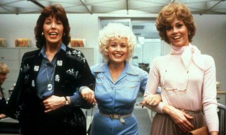 Fonda with Lily Tomlin and Dolly Parton in Nine to Five.