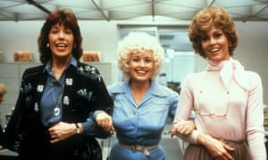 With Lily Tomlin and Jane Fonda in 9 to 5.