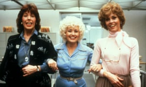 Jane Fonda (right) with Dolly Parton and Lily Tomlin in the film 9 to 5.