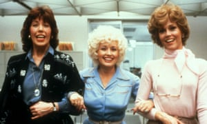 From left, Lily Tomlin, Dolly Parton and Jane Fonda in 9 to 5.