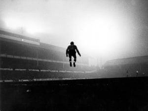 Spurs goalkeeper John Hollowbread at White Hart Lane, Tottenham, London, 1964