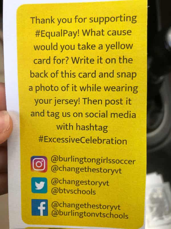 The yellow card that is part of the Burlington campaign.