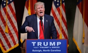 Donald Trump speaks during a campaign event at the Duke Energy Center in Raleigh, North Carolina.