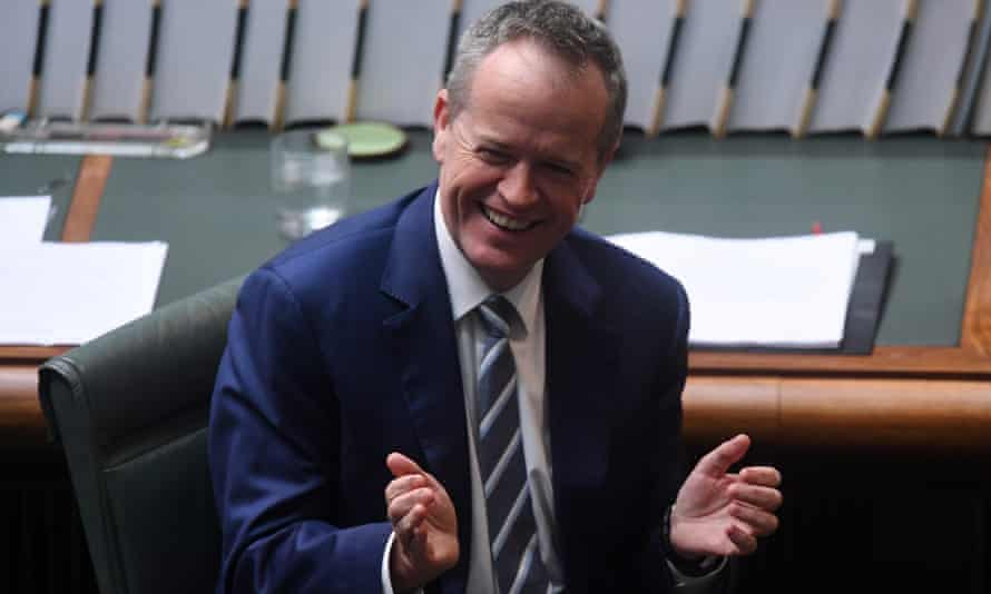 Australian Opposition Leader Bill Shorten claps during House of Representatives Question Time