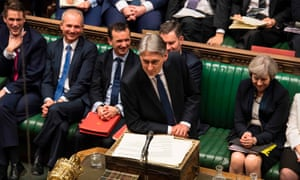 Philip Hammond delivers his budget in the House of Commons.