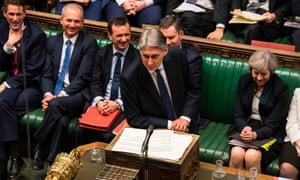 The 'unusually cocky' Philip Hammond delivering his spring budget speech last week.