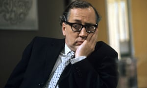 Bernard Hepton as a flustered press officer in Philip Mackie's TV satire The Organisation, 1972.