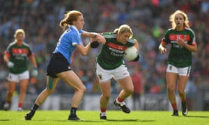 Cora Staunton in action for Mayo against Dublin in the All-Ireland final 2017.