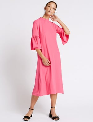 M&S flute-sleeved midi dress. £45.