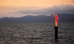 Ocean Siren, a four-metre tall solar-powered sculpture of a young indigenous girl