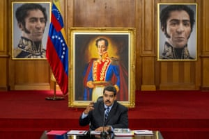 Maduro addresses reporters at the Miraflores presidential palace in Caracas