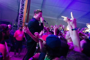 George Clarke of Deafheaven performs at Bonnaroo in 2014