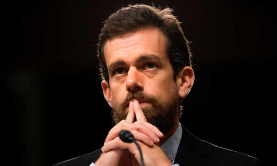 Jack Dorsey on Capitol Hill in Washington DC, on 5 September 2018.