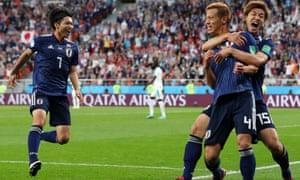 日本にとって2度目の同点ゴールを決めた、本田圭佑。