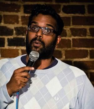 Romesh Ranganathan at the Comedy Cafe.