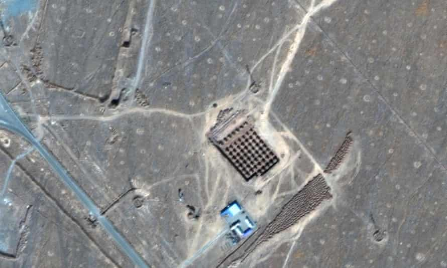 This handout satellite image provided by Maxar Technologies on 8 January shows an overview of Iran's Fordow Fuel Enrichment Plant, northeast of the Iranian city of Qom.