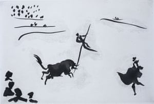 Pablo Picasso's Jumping with the pole, 1957.