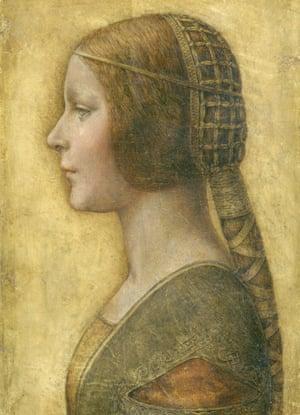 A paiting claimed to be La Bella Principessa by Leonardo da Vinci