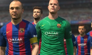 PES 2017 has Barcelona among its official team licenses but a lot of sides are present with fictitious names and kits