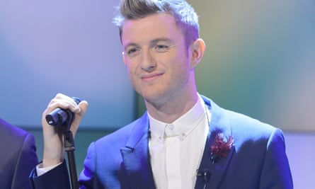 Matley performing with the Overtones on Lorraine Live, 14 December 2012.