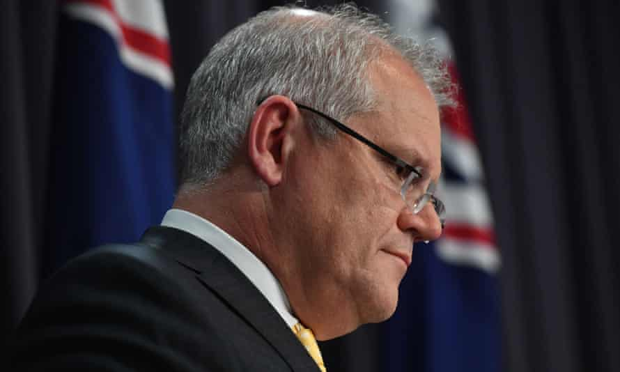 Scott Morrison during a press conference on Tuesday night