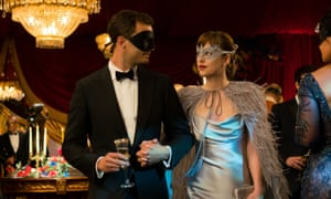 Jamie Dornan and Dakota Johnson in Fifty Shades Darker.