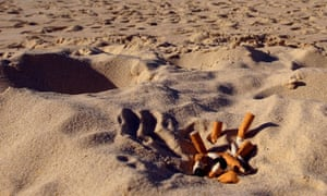 Cigarette butts pose a risk to beach ecosystems, say Thailand government officials.
