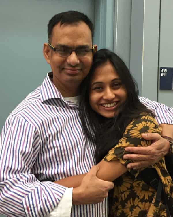 Dr Reza Chowdhury and his daughter Nikita Rahman. Chowdhury, an internal medicine physician in the Bronx, died on 9 April.