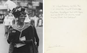 The Gay Day archive features 120 photographs by Hank O'Neal of New York's gay pride parades, each annotated by Allen Ginsberg