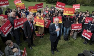 27/04/2017 Harlow Essex . Jeremy `Corbyn address supporters in Harlow Park .Photo SEAN SMITH