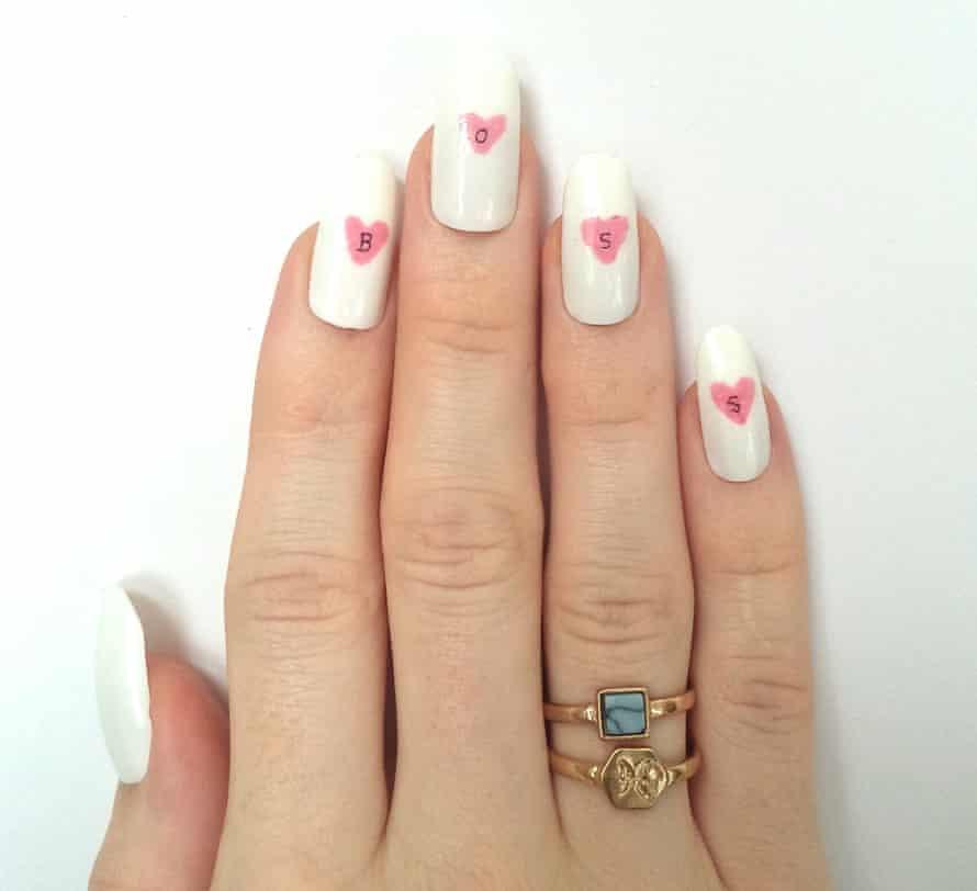 A nail designs at Nail Transphobia