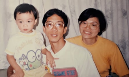 Ian Chan as a toddler and his family in Hong Kong in the 90s.