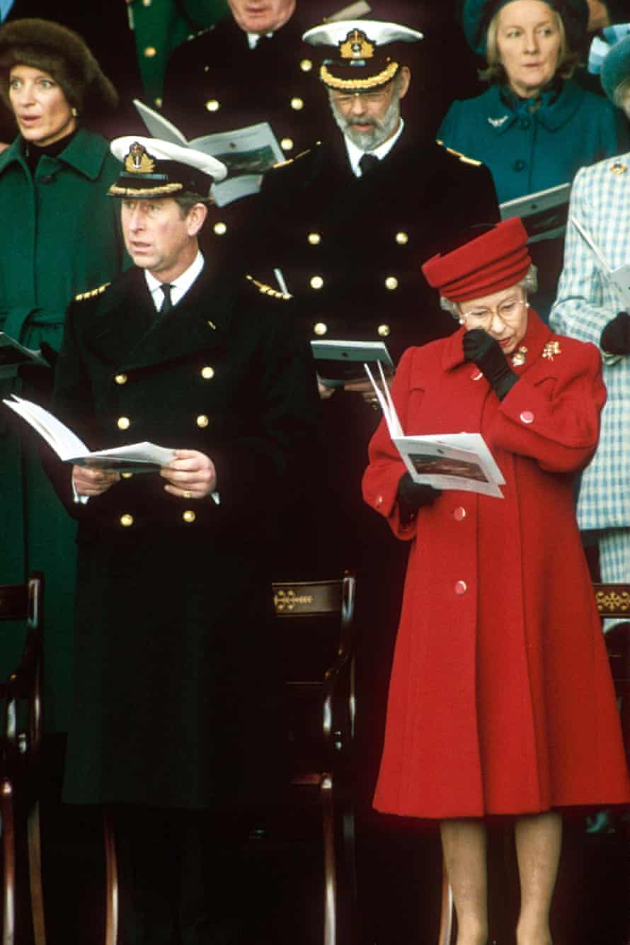 Queen Elizabeth sheds a tear at the decommissioning of the Royal Yacht