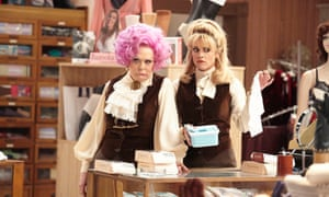 Sherrie Hewson as Mrs Slocombe and Niky Wardley as Miss Brahms in Are You Being Served?