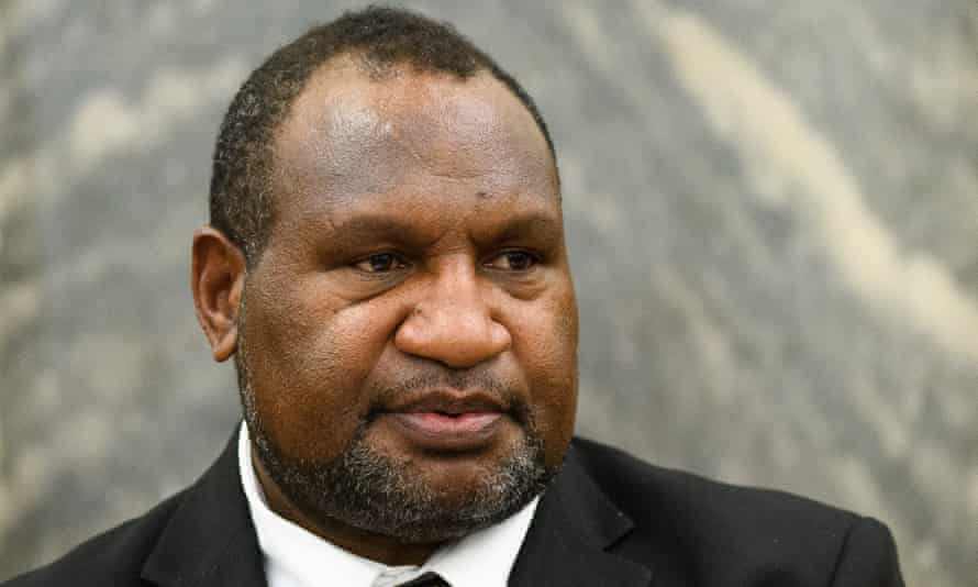 James Marape on a visit to New Zealand in February