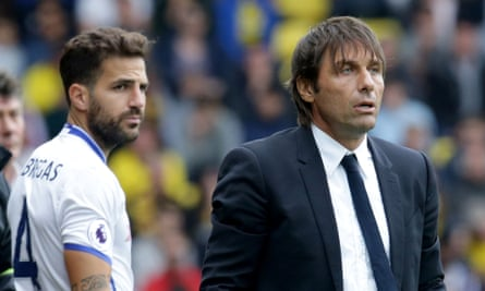 Cesc Fàbregas hopes not to be joining Antonio Conte in watching too many Chelsea games from the dugout this season.