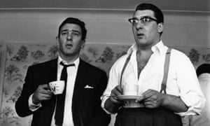 London gangsters Ronnie and Reggie Kray drinking cups of tea