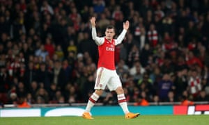 Granit Xhaka reacts to boos from Arsenal supporters as he is substituted against Crystal Palace in 2019.