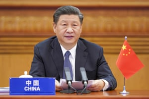 In this photo released by Xinhua News Agency, Chinese President Xi Jinping attends the G20 Extraordinary Virtual Leaders' Summit on COVID-19 via video link in Beijing, capital of China, March 26, 2020. Leaders of the world's most powerful economies convened virtually on Thursday with the aim of coordinating a global response to the fast-spreading coronavirus, which has shuttered businesses and forced well over a quarter of the world's population into home isolation. (Li Xueren/Xinhua via AP)