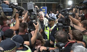 George Pell leaves court in Melbourne on Tuesday