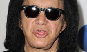 'Looking forward to the death of rap' … Gene Simmons.