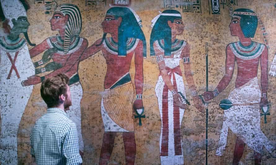Tutankhamun: Treasures of the Golden Pharaoh exhibition at the Saatchi gallery, London.