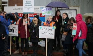 Junior doctors on the Sandwell picket lines