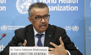 Tedros Adhanom Ghebreyesus, the director general of the World Health Organization, updates the media on the Covid-19 outbreak.